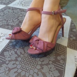 New Michael Kors Suede Wild Rose Sandals Size 8M